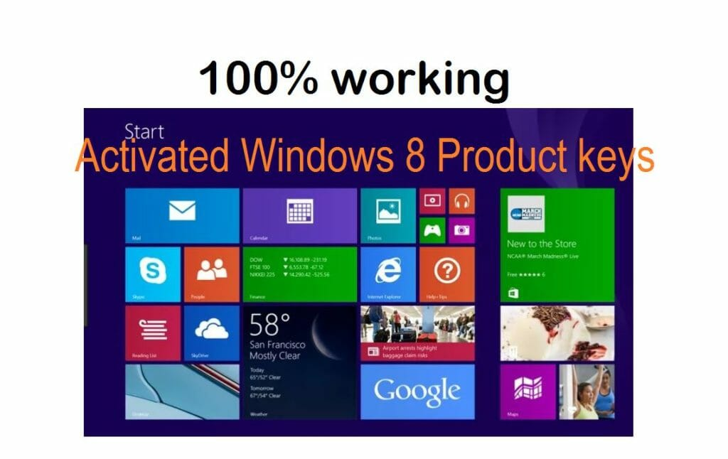 windows 8 product key completely activated and constant updated.